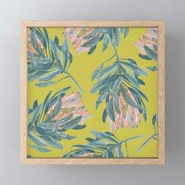 Mustard Protea Repeat Framed Mini Art Print