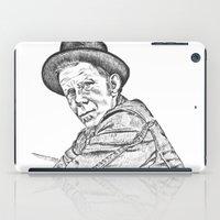 tom waits iPad Cases featuring Tom Waits Sketch in Black by JennFolds5 * Jennifer Delamar-Goss