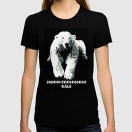 Vintage vector Zoo ad Basel polar bear T-shirt