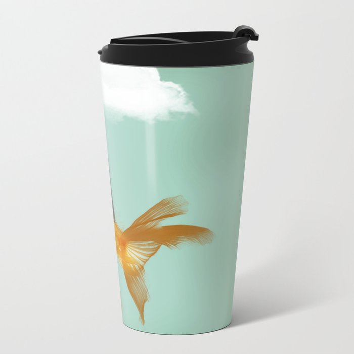 Under a Cloud Metal Travel Mug