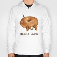 beagle Hoodies featuring Beagle Bagel by Sophie Corrigan