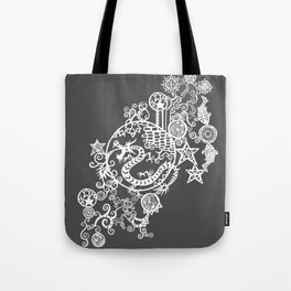 Pieces of China: Day of the Dragon (Dark Gray) Tote Bag