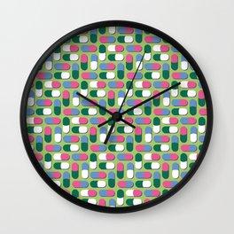 Colorful pills Wall Clock