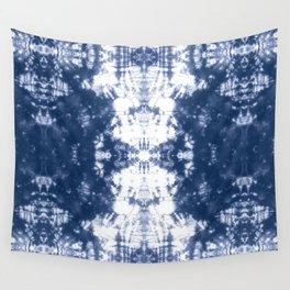 Shibori 6 Indigo Blue Wall Tapestry