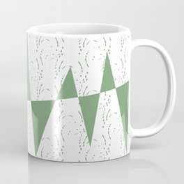 Abstract geometric pattern on white background Coffee Mug