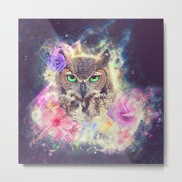 Space Owl with Spice Metal Print