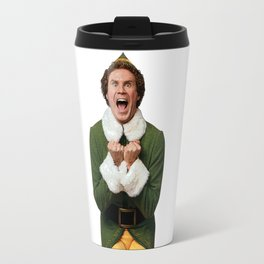 BUDDY THE ELF! Christmas Movie Will Ferrell Travel Mug