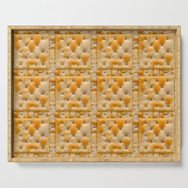 Salted Soda Crackers Food Photo Tile Pattern Serving Tray
