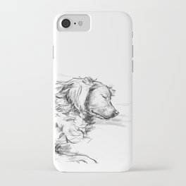 Dreaming Golden Retriever iPhone Case