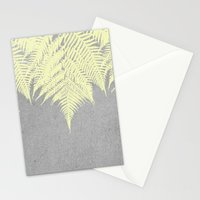 Concrete Fern Yellow Stationery Cards