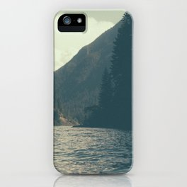 The darkness of Diablo Lake iPhone Case