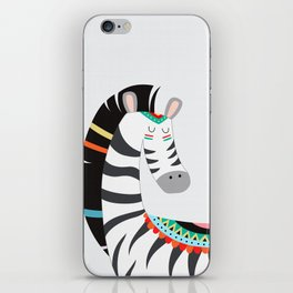 Zebra Color Drawing iPhone Skin