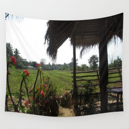 Rice Field Wall Tapestry