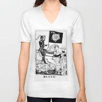tarot V-neck T-shirts featuring Tarot XIII by Shaina Stern