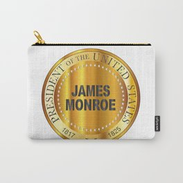 James Monroe Gold Metal Stamp Carry-All Pouch