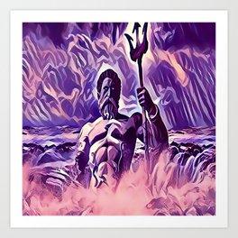 Poseidon - God of the Sea Art Print