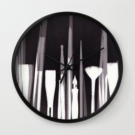 Paintbrush Photogram Wall Clock