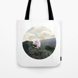 Ancient Dance Bee Mountain Bees Wildflower Tote Bag