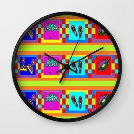 EYE UMBRELLA  BEACH PATTERN Wall Clock