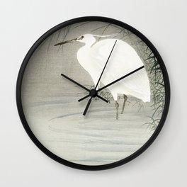 Heron illustration Wall Clock