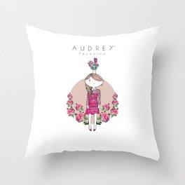 Audrey siri IV Throw Pillow