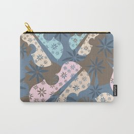 Flower Cello Violin Viola Pattern in blues and pinks Carry-All Pouch