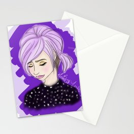 Purple Princess Stationery Cards