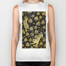 Tiger jungle animal pattern Biker Tank