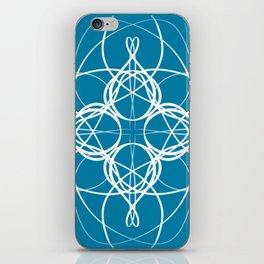 Blue White Swirl iPhone Skin