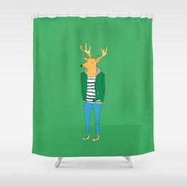 Mr. deer Shower Curtain