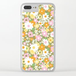 vintage 14 Clear iPhone Case