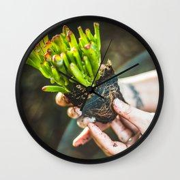The Joy of Gardening Wall Clock