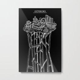Göteborg invert Metal Print