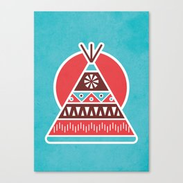 Indian Tepee Canvas Print