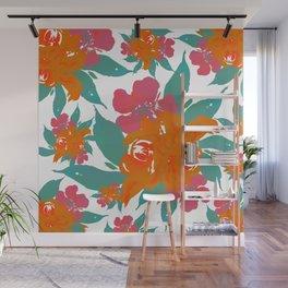 """Vivid Colors Tropical Classic Floral"" Wall Mural"