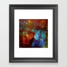 The break of the butterfly Framed Art Print