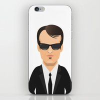 tarantino iPhone & iPod Skins featuring Tarantino - Mr. Brown by Capitoni