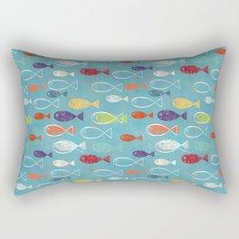 Fish poissons 100 Rectangular Pillow
