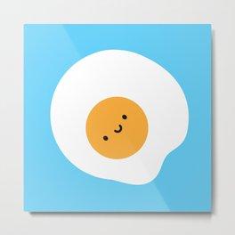Kawaii Fried Egg Metal Print
