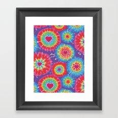 Love Tye Dye Framed Art Print