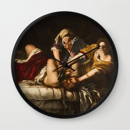 Artemisia Gentileschi's Judith Slaying Holofernes Wall Clock