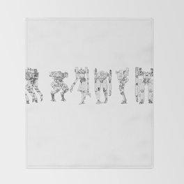 Mech Lineup Throw Blanket