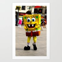 spongebob Art Prints featuring Spongebob by Savannah Frances