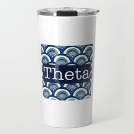 Scalloped Theta Travel Mug