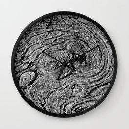 Old tree texture Wall Clock