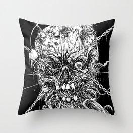 Hellraiser Horror Skull Throw Pillow
