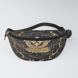 Leather and Gold Fanny Pack