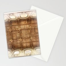Wooden church ceiling  Stationery Cards