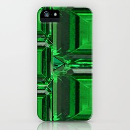 SPRING GREEN EMERALDS ART DECORATIVE  DESIGN iPhone Case