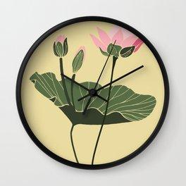 Lotos botanical illustration Wall Clock
